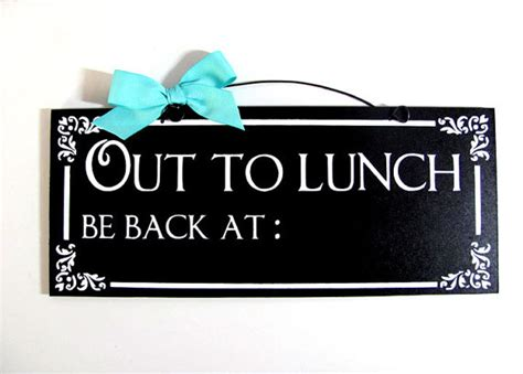 out to lunch sign chalkboard paint custom by