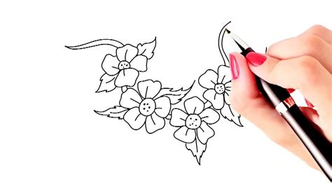 Beautiful Easy To Draw Flowers by Beautiful Flower Drawings Step By Step Www Pixshark