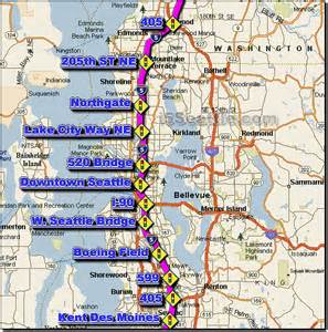i 5 seattle traffic maps and road conditions