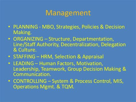 Mba Leadership And Management Meaning management definition functions