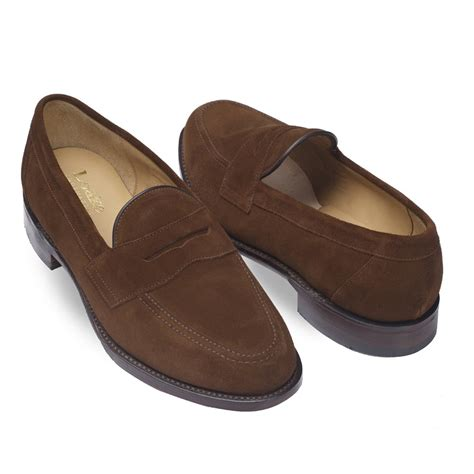 brown loafers loake eton loafer in brown suede