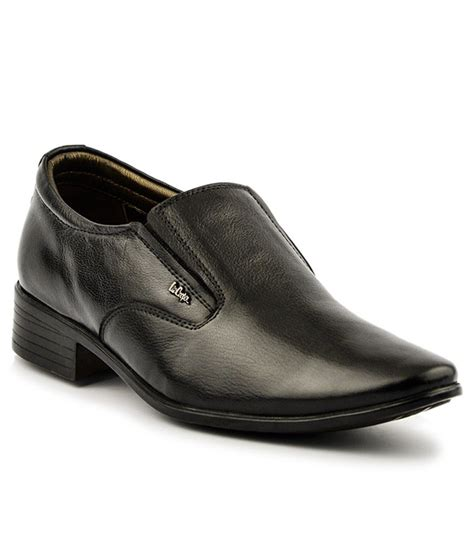 cooper shoes cooper black slip on genuine leather formal shoes