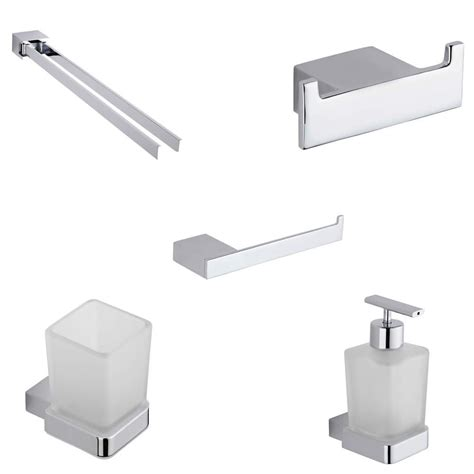 Chrome Bathroom Accessories Set Parade Chrome 5 Bathroom Accessory Set