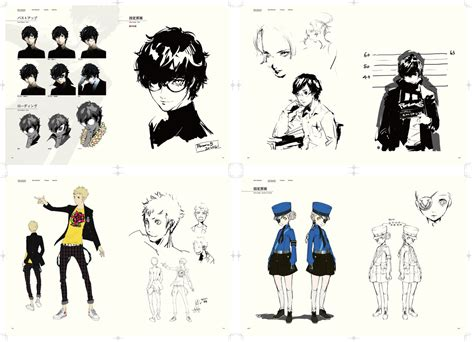 the art of persona persona 5 official visual works art book 10 preview pages persona central
