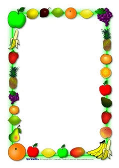 fruit themed a4 page borders (sb920) sparklebox   cadres