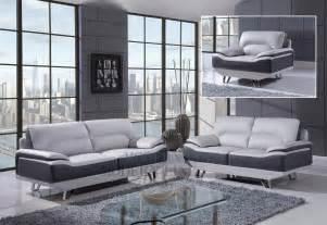 Grey Leather Living Room Furniture Modern Line Furniture Commercial Furniture Custom Made