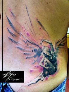angel kiss tattoo 28 astonishing angel tattoo ideas guardian angels kiss