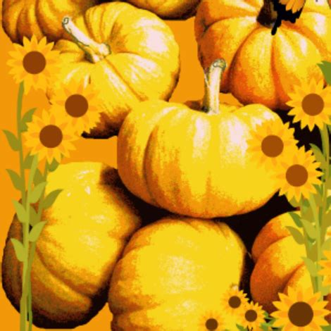 pumpkins galore! (larger) fabric robin_rice spoonflower