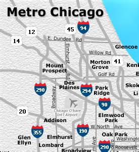 Chicago Metro Area Map by Chicago Metro Map