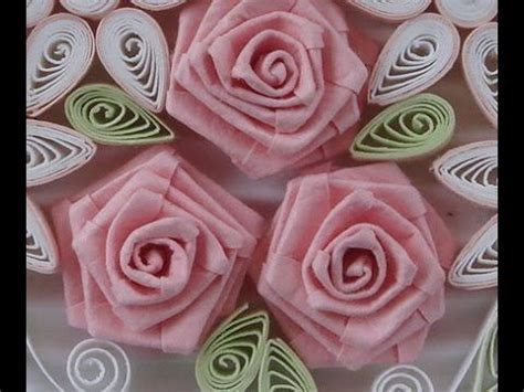 quilling paper rose tutorial how to fold rose paper quilling youtube quilling