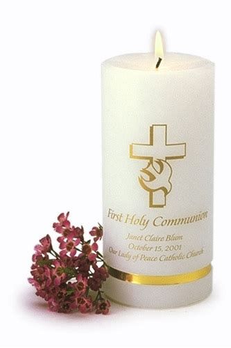 Holy Communion Candle Decoration by Personalized Communion Candle Communion Keepsakes