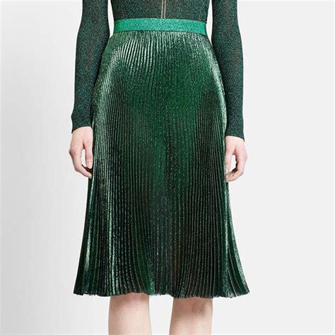 2016 designer pleated skirt fashion sequin skirt