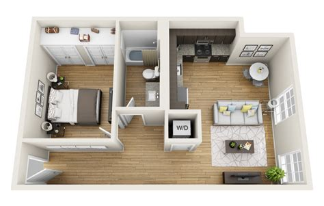 one bedroom apartments small minimalist home design