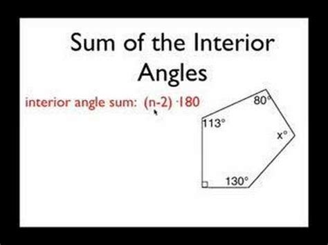 Total Interior Angles Of A Hexagon by Geo Screencast 7 Polygon Angles