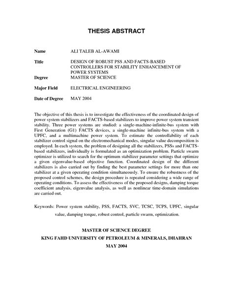 abstract for dissertation abstract of thesis format