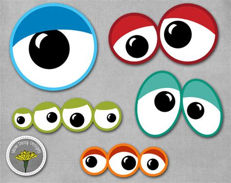 printable baby eyes monster eyes photo props printable instant download
