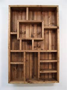 Wooden Box Wall Shelves Shadowbox Wood Shelf Shadow Box Display From