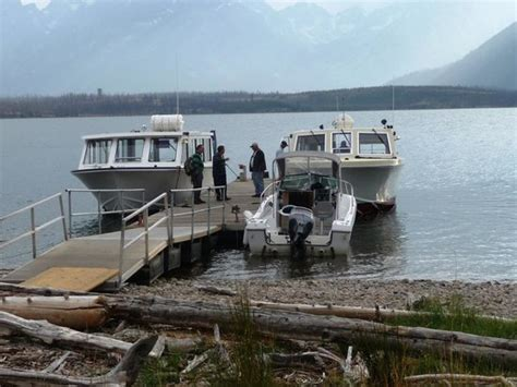 boat tour jackson lake boats docked on elk island picture of grand teton lodge