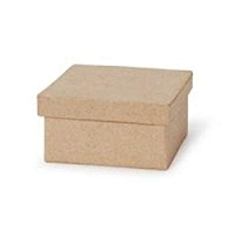 Paper Boxes With Lids - 3 quot small square paper mache boxes with lids
