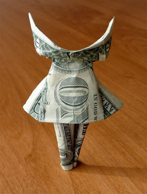 Money Origami Dress - dress money origami dollar bill money dollar