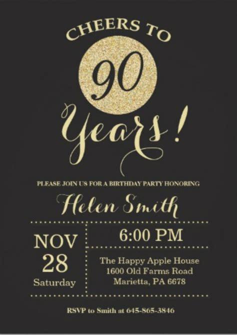 90th birthday invites templates 11 90th birthday invitations designs templates psd ai free