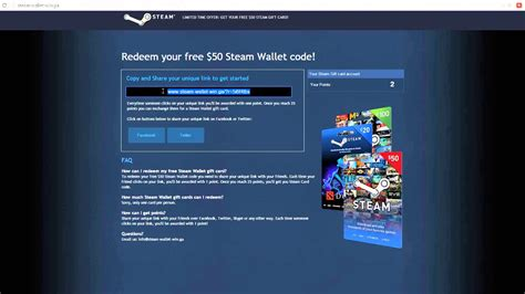 Steam Gift Card Not Working - how to get free steam wallet cards 50 youtube