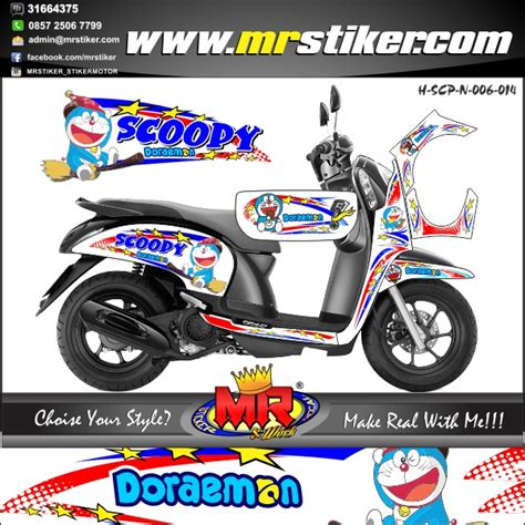 Stiker Secal Fino Carbu Hello motor scoopy modifikasi doraemon automotivegarage org