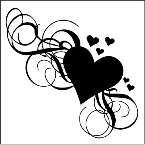 heart and scroll tattoo designs fancy tattoos cliparts co