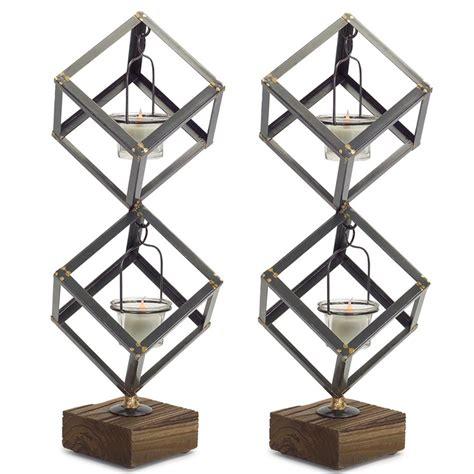 Primitive Home Decor Coupon Code 18 quot diagonal standing square metal tea light candle holder