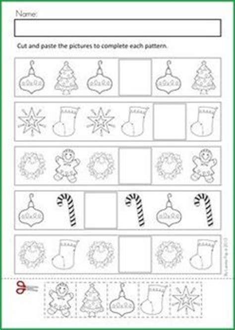 christmas pattern worksheets ks1 free christmas cut paste patterns worksheet teacher