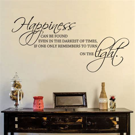 Happiness Home Bedroom Decor Vinyl Motivation Wall Decal Harry Potter Quote Happiness