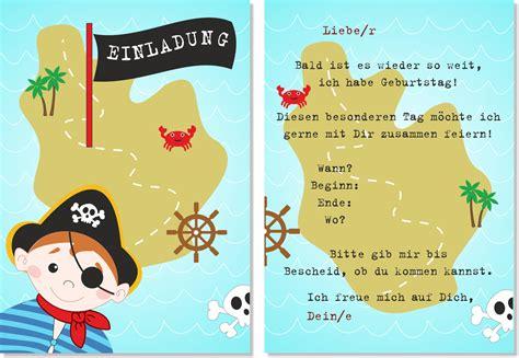 einladung kindergeburtstag pirat vorlagen