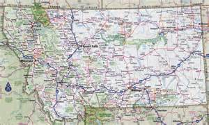 large detailed roads and highways map of montana state
