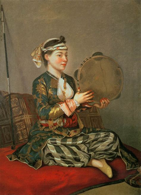Turkish L by Turkish With A Tambourine By Liotard Tienne