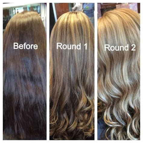 turning dark brown hair to blonde 25 best ideas about brunette going blonde on pinterest