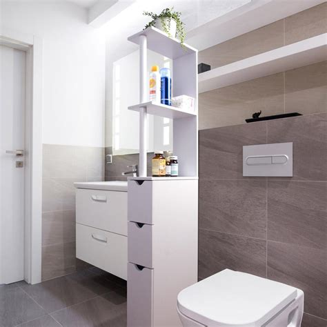 mobiletto per bagno mobiletto salvaspazio da bagno in legno d mail