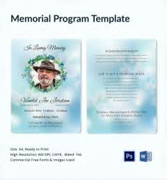 Memorial Service Program Templates by 11 Sle Memorial Program Template Free Sle