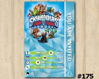 skylander birthday card template skylanders birthdays and card birthday on