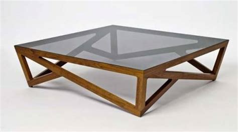 wooden coffee table glass top the interior design