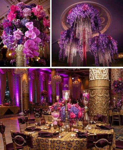 gold  purple tones  gorgeous magenta