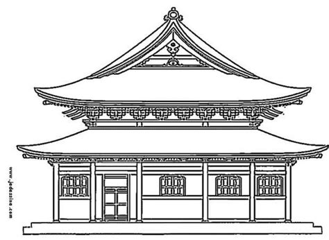 japanese castle coloring page japanese castle coloring pages hellokids com