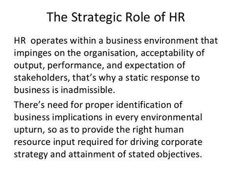 Strategic Human Resource Management Notes Mba by Strategic Human Resource Management