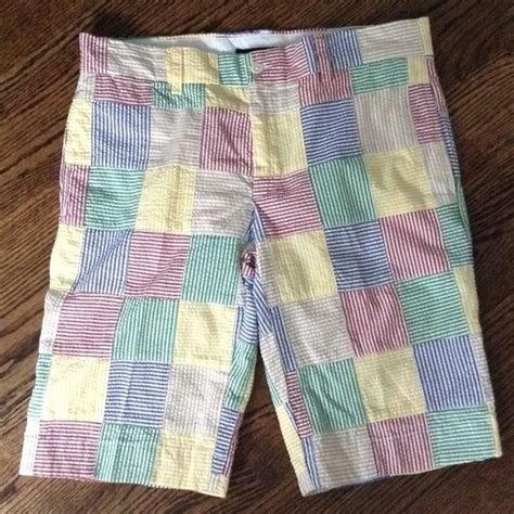 Ralph Patchwork Shorts - ralph ralph sport patchwork seersucker
