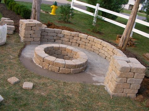 Creatively Luxurious Diy Fire Pit Project Here To Enhance Diy Patio Pit
