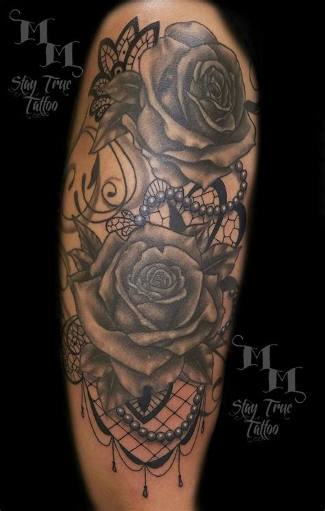 rose and pearl tattoo 17 best images about tattoos on ankle