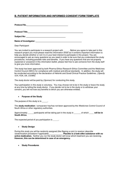 Research Consent Letter Sle consent form template 28 images sle research consent