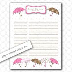 Printable Baby Shower Gift List Template 8 Best Images Of Printable Baby Shower Gift Log Baby