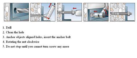 Bolt Expansion Anchor Bolt Installation Asphalt Wedge