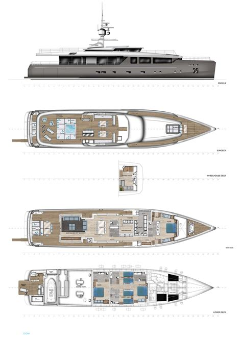 yacht deck layout ideas impero 38 rph yacht layout admiral motor superyachts