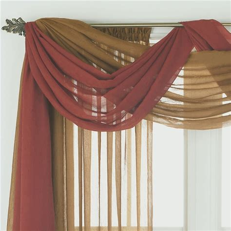 how to hang scarves on curtain rods scarf valance on pinterest window scarf swag curtains